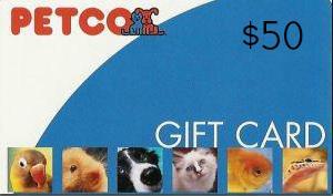 Petco Gift Card $50, Stray Pet Awareness