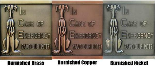 BoRegards Fire Safety Plaque