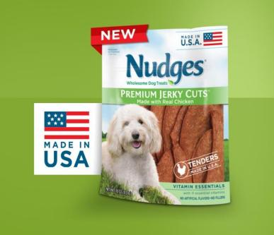 Nudges Premium Jerky Cuts Dog Treats #NudgesMoments