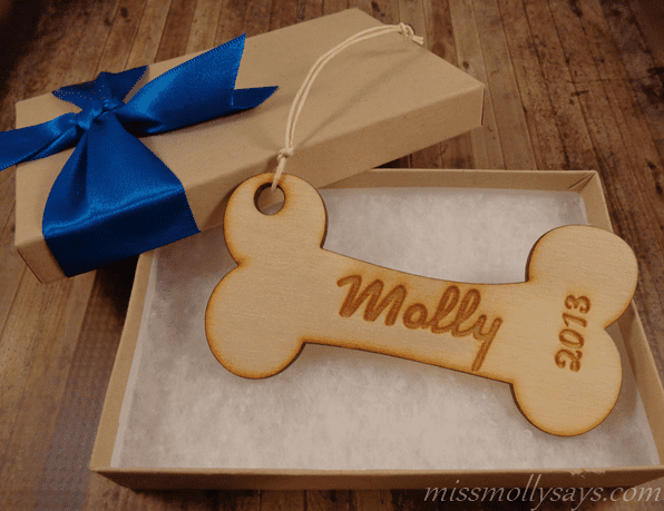 Marked Moments Custom Dog Bone Ornament