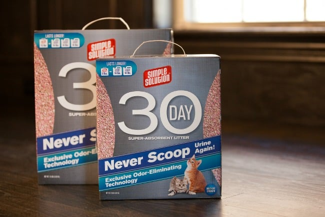 Simple Solution 30 Day Cat Litter Review & Giveaway!