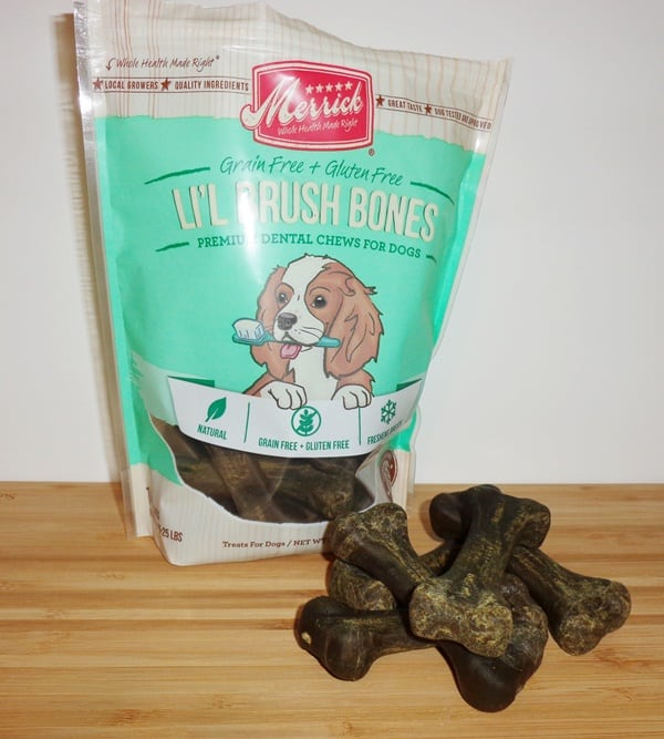 Merrick-Lil'-Brush-Bones-Grain-Free-Dental-Chews-Dog-Treats