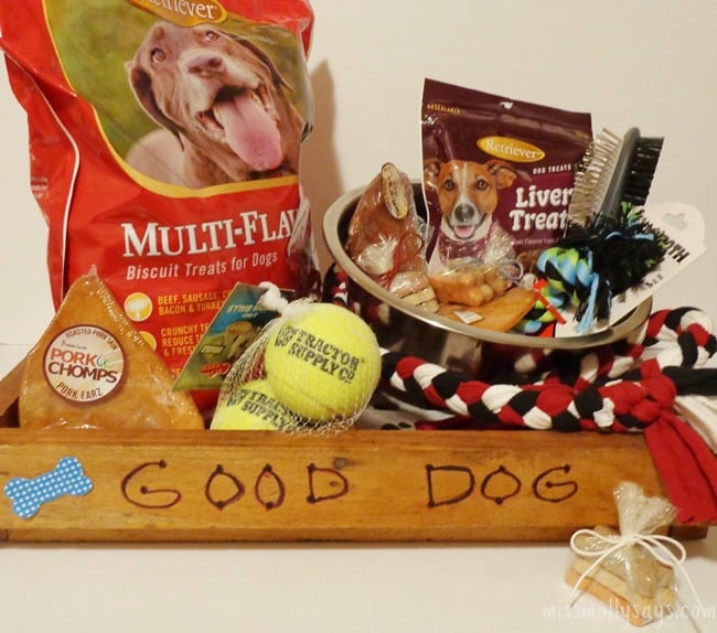 DIY Gourmet Pet Gift Basket #Paw2014