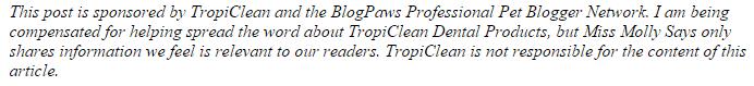 TropiClean-disclaimer