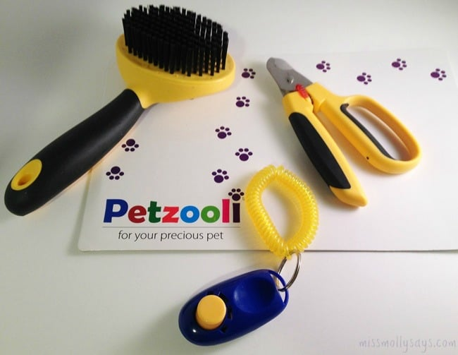 Petzooli-Grooming-Brush-Nail-Clippers-and-Training-Clicker