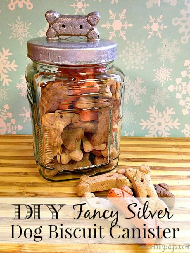 DIY Fancy Dog Biscuit Canister