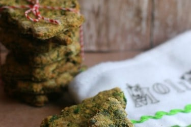 Homemade Parmesan Spinach Dog Treats