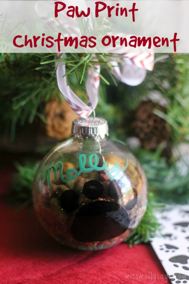 Paw Print Christmas Ornament