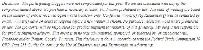 Giveaway disclosure WW