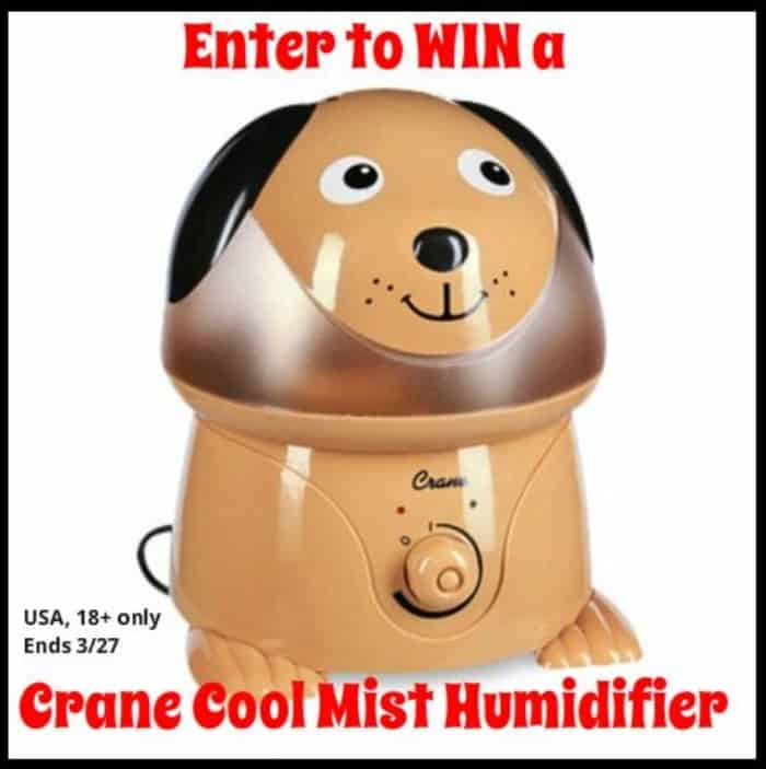 Win a Crane Cool Mist Humidifier in your choice of animal!