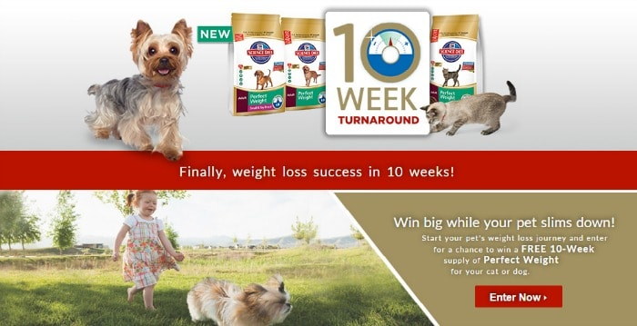 Enter to Win 10 Weeks of Perfect Weight Pet Food for Weight Loss