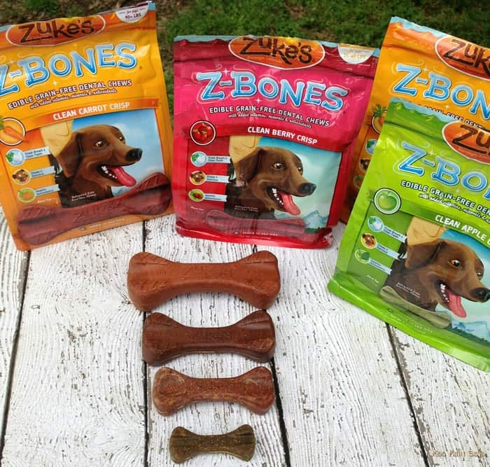 Zuke's Z-Bones Grain Free Dental Chews for Dogs #Review - sizes