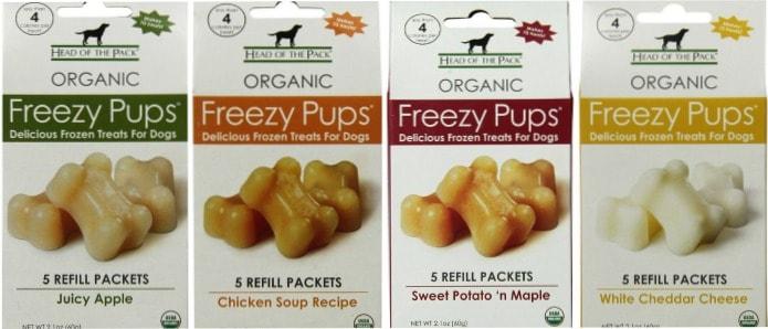 Freezy Pups flavors