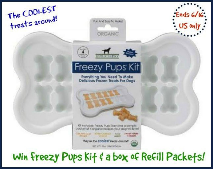 Enter to #Win a Freezy Pups Kit and box of Refill Packets in choice of flavor!