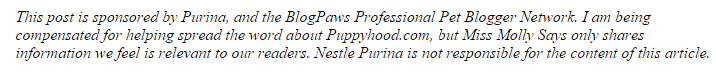 Purina Puppyhood disclosure