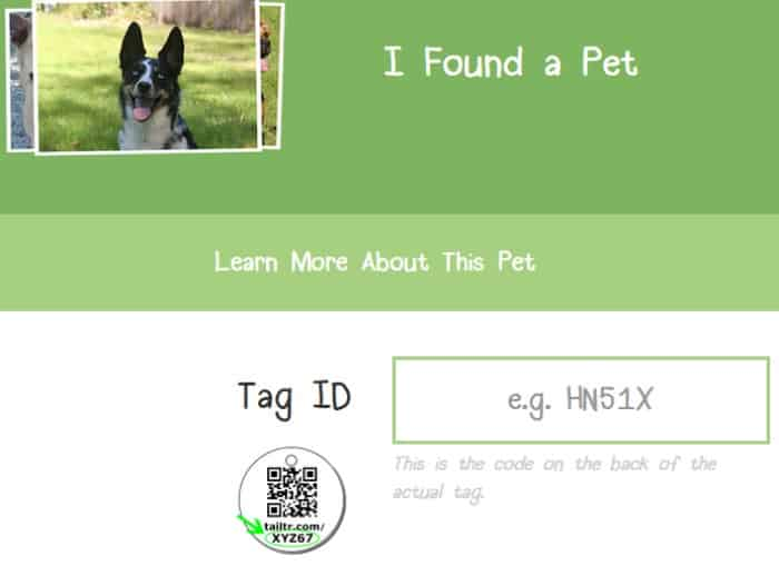 Tail Trackers - found pet page