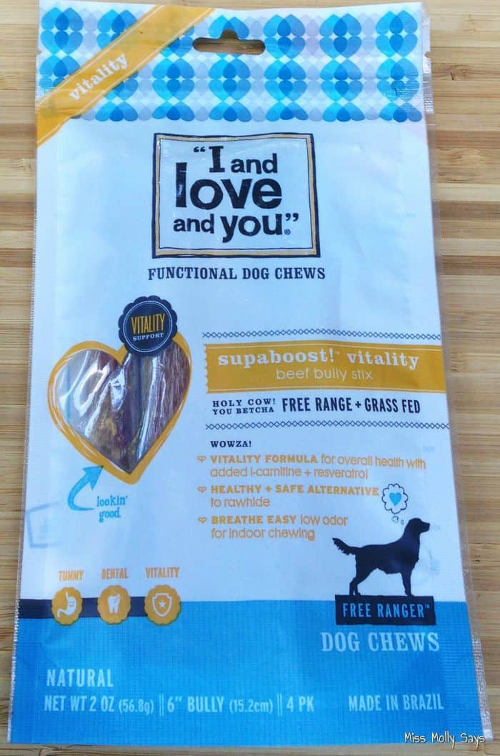 I and Love and You   SupaBoost! Vitality Beef Bully Stix are Woofalicious! #Review