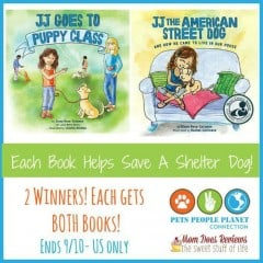 Enter to #win TWO JJ Book's AND Help Save a Shelter Dog! #TeamKindness