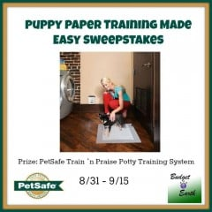 Enter to #win a PetSafe Train 'n Praise Potty Training System!