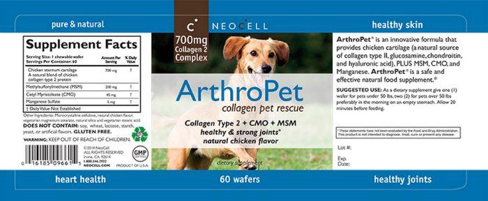 ArthroPet label