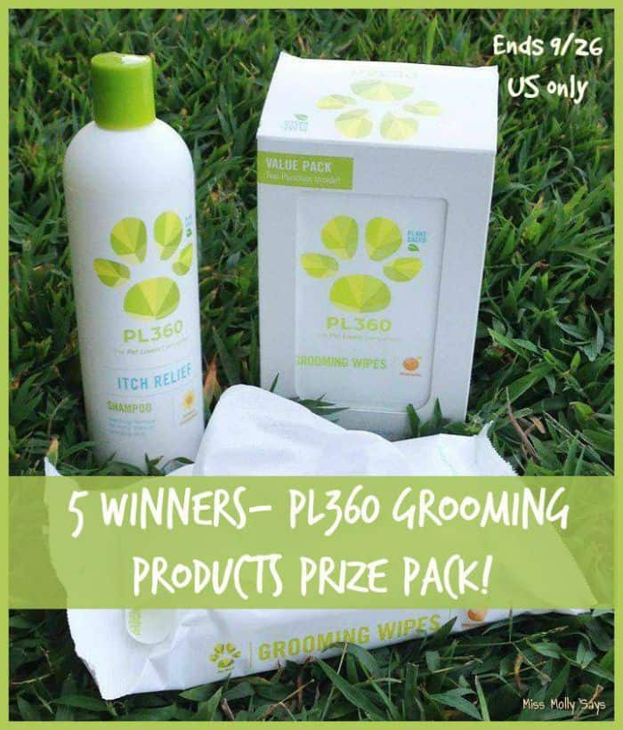 Enter to #win an amazing PL360 Pet Grooming Prize Pack! FIVE Winners!
