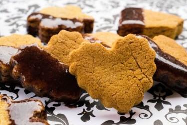 Pumpkin Peanut Butter Dog Biscuits with Carob Dip