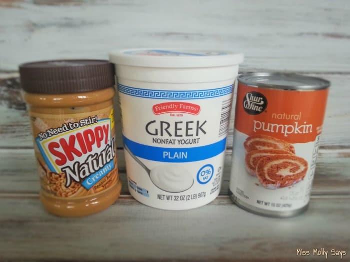 Easy Frozen Homemade Pumpkin Dog Treats ingredients