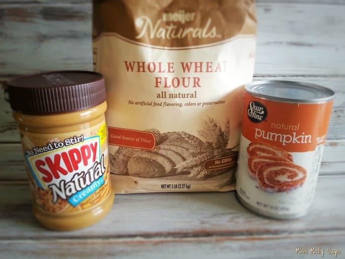 Pumpkin and Peanut Butter Dog Treats ingredients