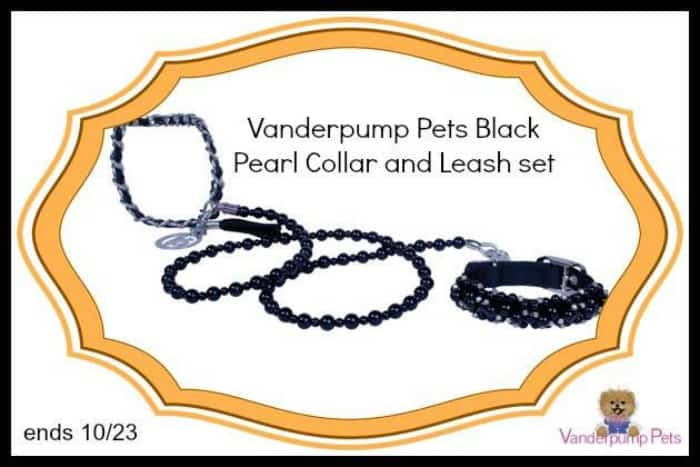 #Win a Vanderpump Pets Black Pearl Collar and Leash Set! - ends 10/23 US Only