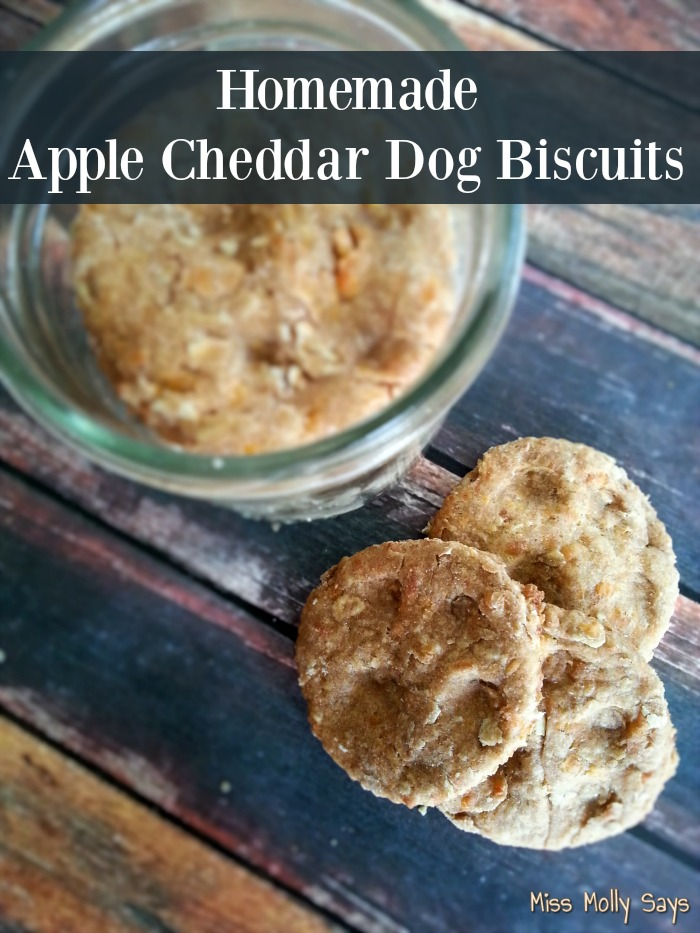 Homemade Apple Cheddar Dog Biscuits