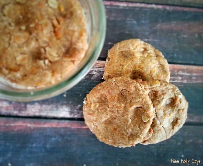 Homemade Apple Cheddar Dog Biscuits