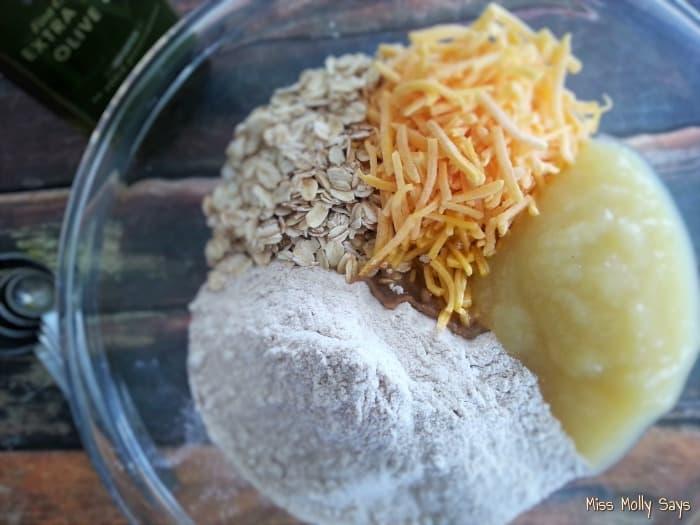 Homemade Apple Cheddar Dog Biscuits ingredients
