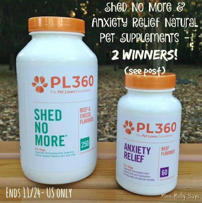 Win Shed No More & Anxiety Relief Natural Pet Supplements