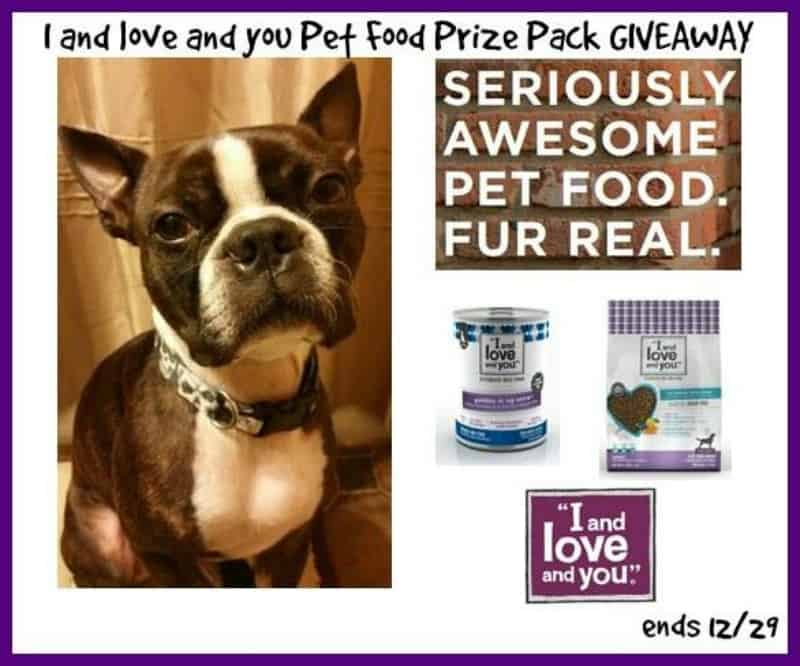 #Win an I and Love and You Pet Food Starter Kit (your choice - dog or cat)! - ends 12/29 US Only