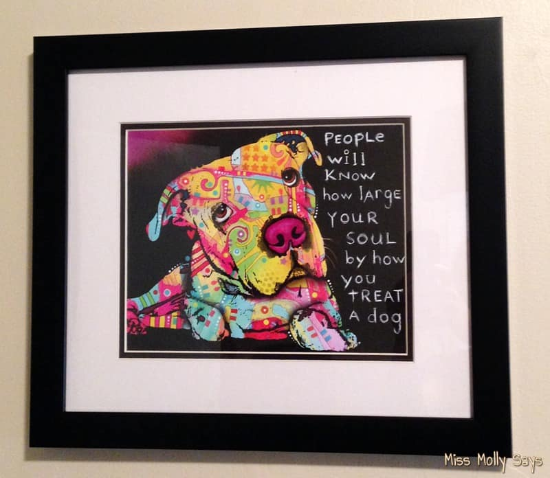 I'm Squealing in Delight with my 'Firu' Dean Russo Framed Dog Art #Review #ChristmasMM15