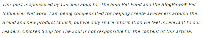 Chicken Soup for the Soul Pets disclosure