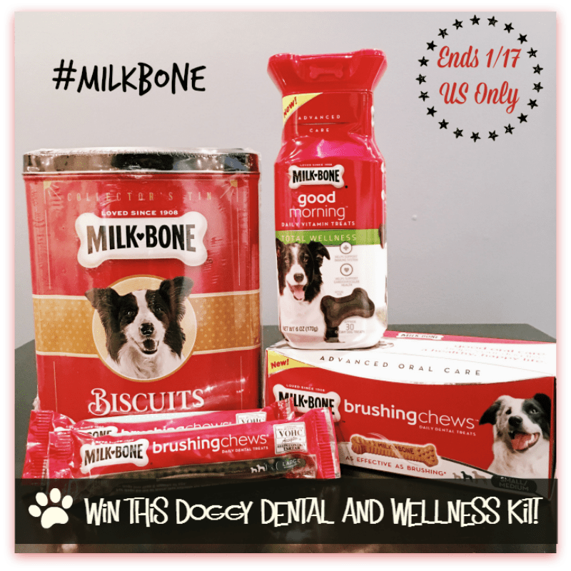 #Win a MilkBone Doggy Dental and Wellness Kit! - ends 1/17 - US Only