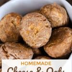 Homemade Cheese & Oats Mini Dog Treats
