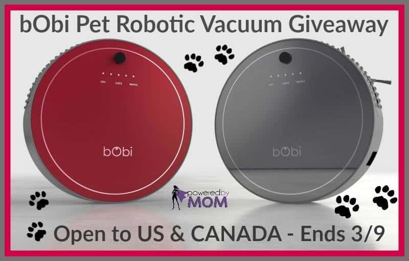 #Win a bObi Pet Robotic Vacuum ($849 retail value)! - ends 3/9 US & Canada