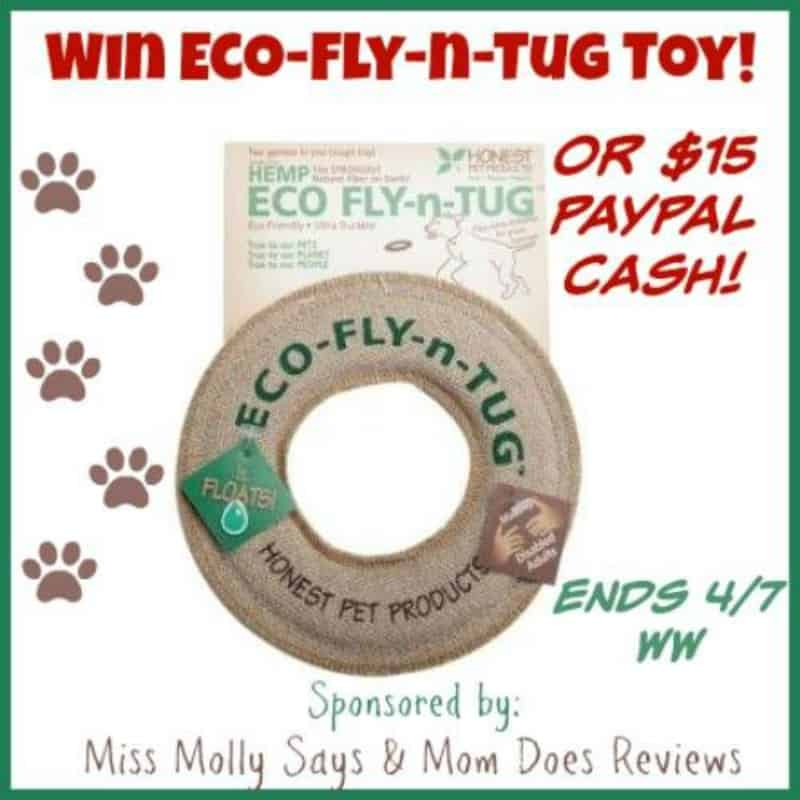 #Win an Eco-Fly-n-Tug Dog Toy OR $15 Paypal Cash! - ends 4/9 Open WW