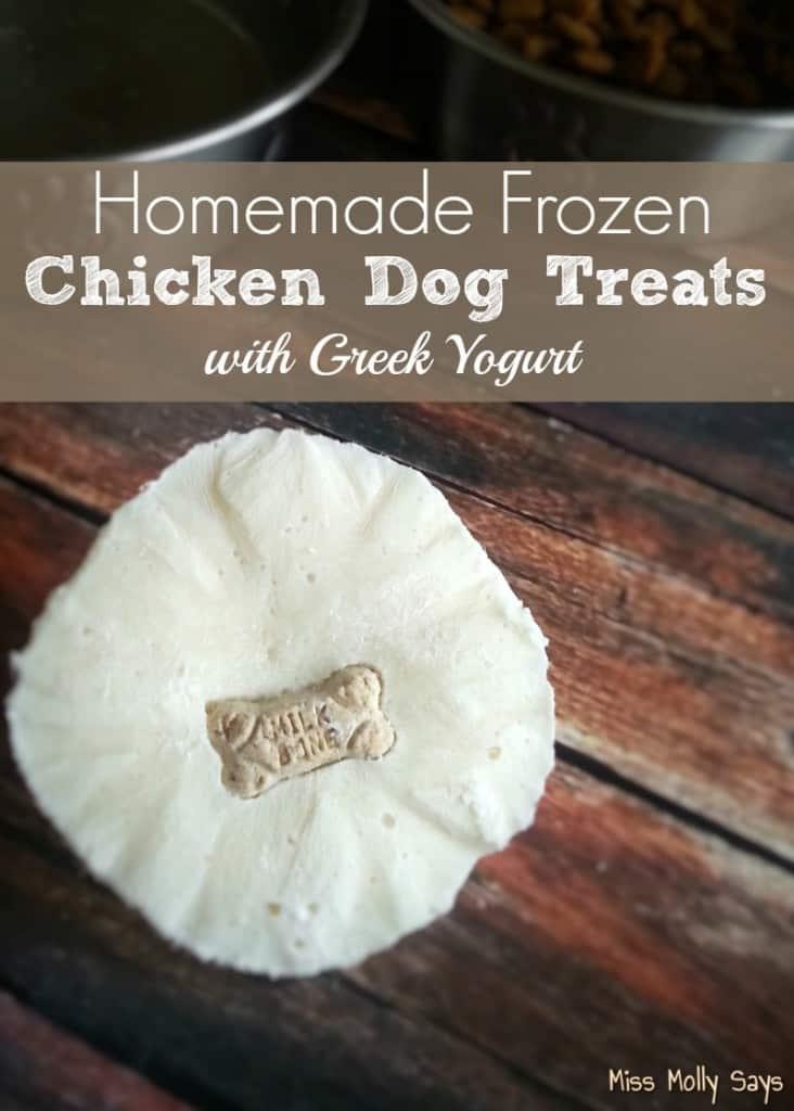 Homemade Frozen Chicken Dog Treats with Greek Yogurt