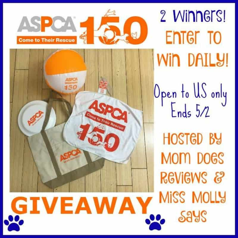 #Win an ASPCA 150 Giveaway Prize Pack - 2 WINNERS! - ends 5/2 US Only