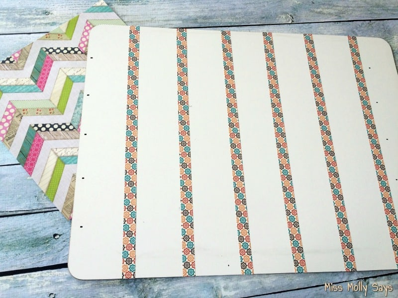 DIY Pet Schedule Custom Magnetic Dry Erase Board process 2