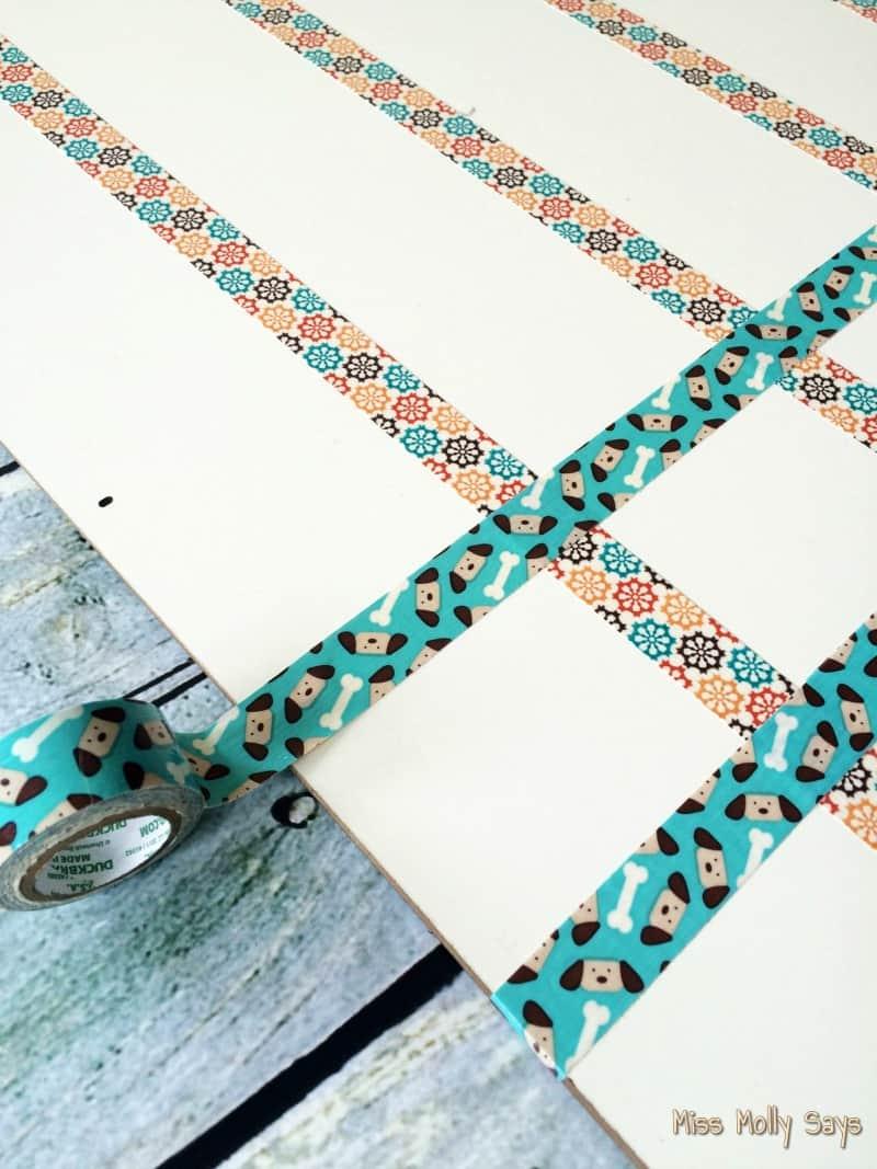 DIY Pet Schedule Custom Magnetic Dry Erase Board process 3