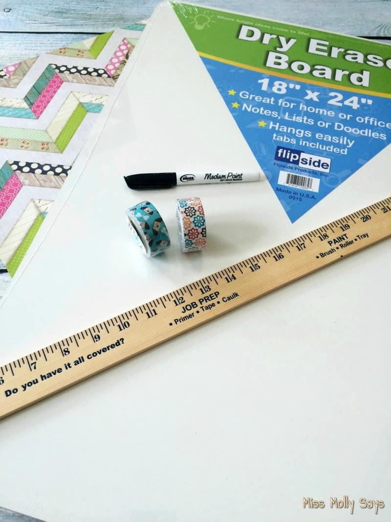 DIY Pet Schedule Custom Magnetic Dry Erase Board supplies