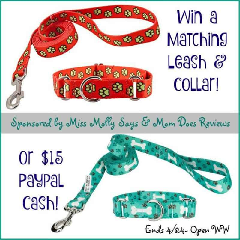 #Win a Matching Collar and Leash Set OR $15 Paypal Cash! - ends 4/24 Open WW