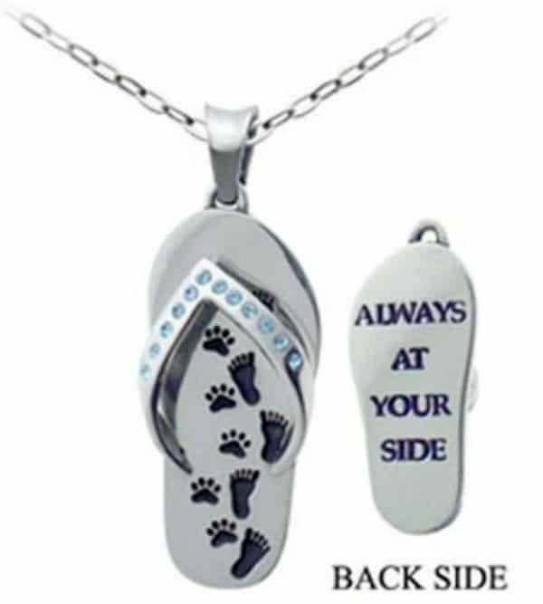 Paw Print Flip Flop necklace