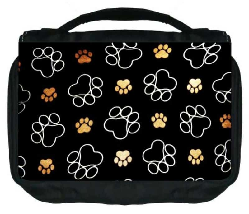 Paw Print makeup bag