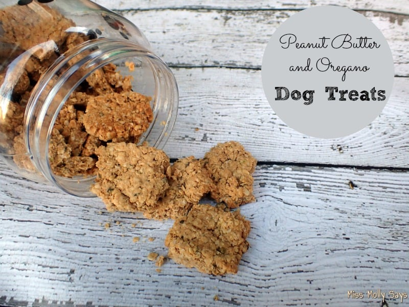 Peanut Butter and Oregano Dog Treats