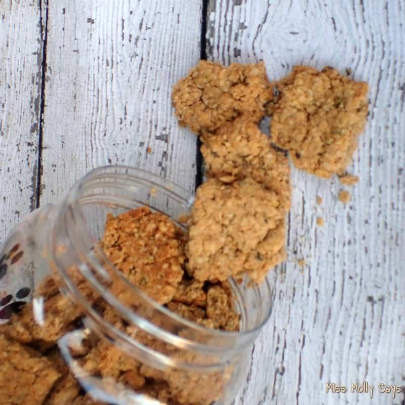 Peanut Butter and Oregano Dog Treats